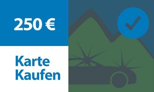 Prepaid Kundenkarte 250 €